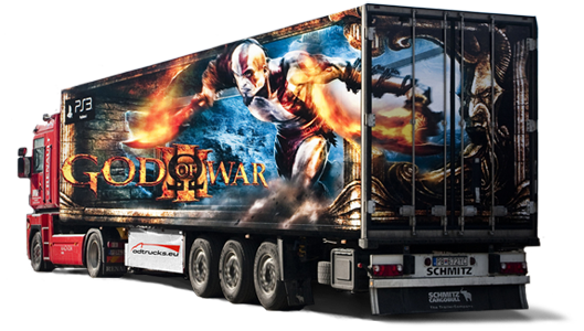 God of war - play station adtruck