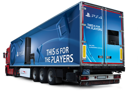 Playstation 4 truck advertisment
