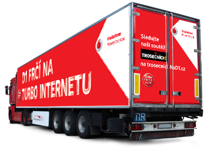 Vodafone truck advertisment