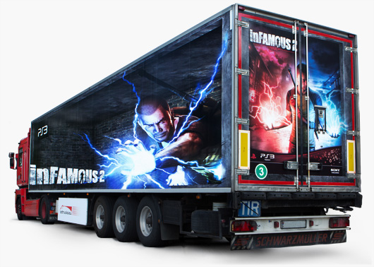 InFamous 2 - play station truck ad