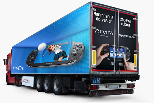 Playstation Vita outdoor reklama