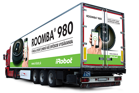 Roomba truck advertisment